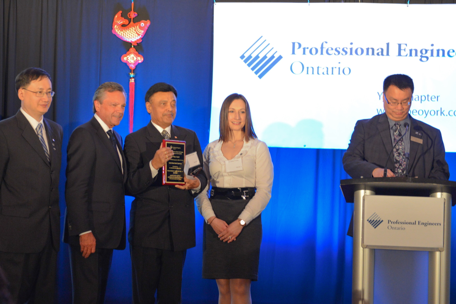 Project of the Year Award Presentation 2012 - PEO - York